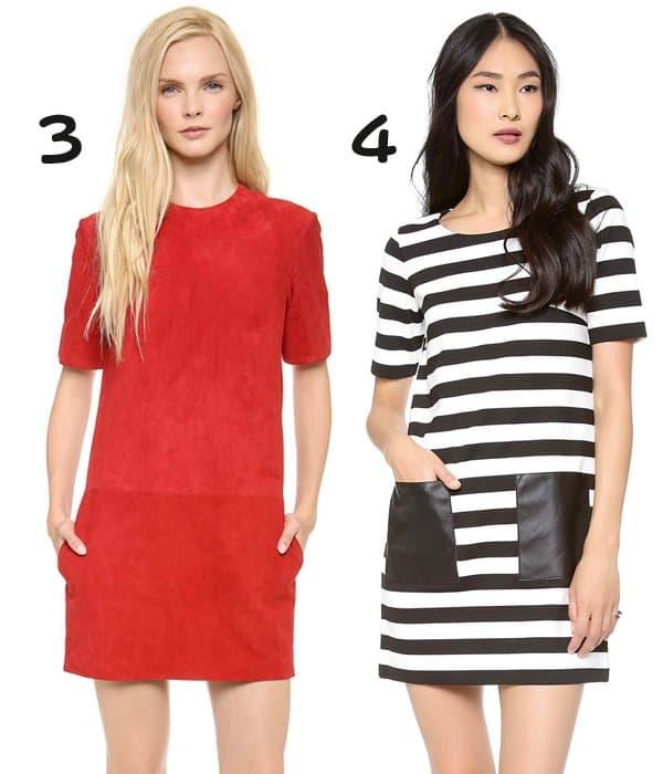 Jenni Kayne Suede Shift Dress and Club Monaco Haley Knit Dress