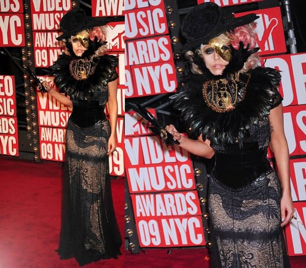Singer Lady Gaga at the 2009 MTV Video Music Awards (VMAs) held at the Radio City Music Hall in New York City on September 13, 2009