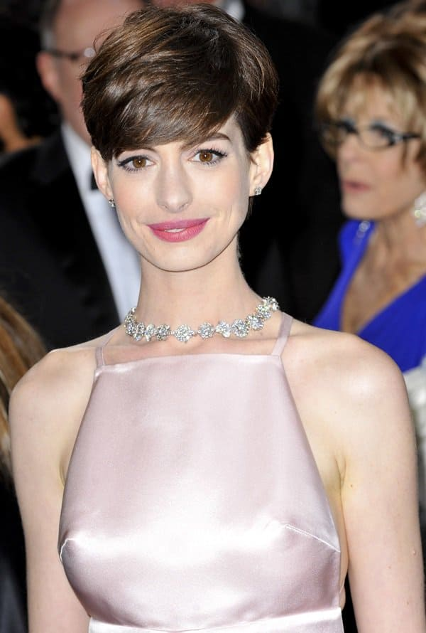 Anne Hathaway at the 85th Annual Oscars at Hollywood & Highland Center