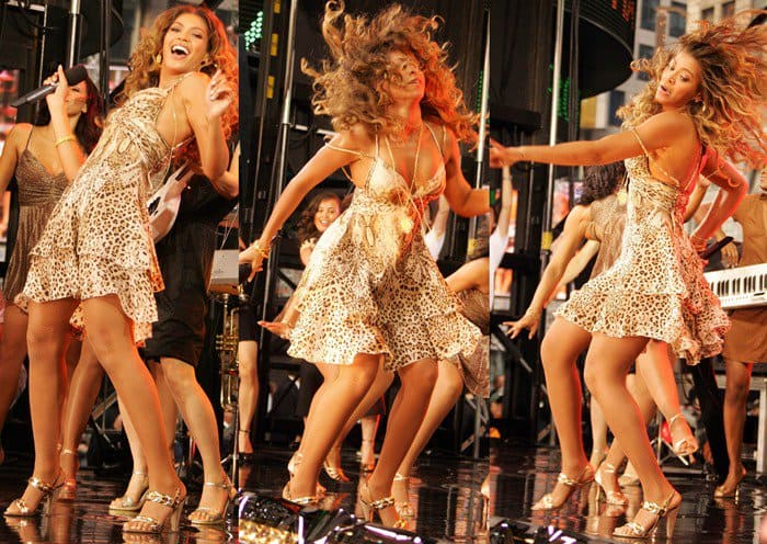 When you move around on stage as much as Beyonce, upskirts are just a normal part of life