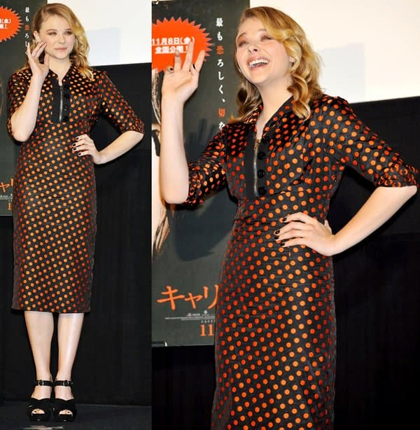 'Carrie' photocall at Shinjuku Piccadilly
