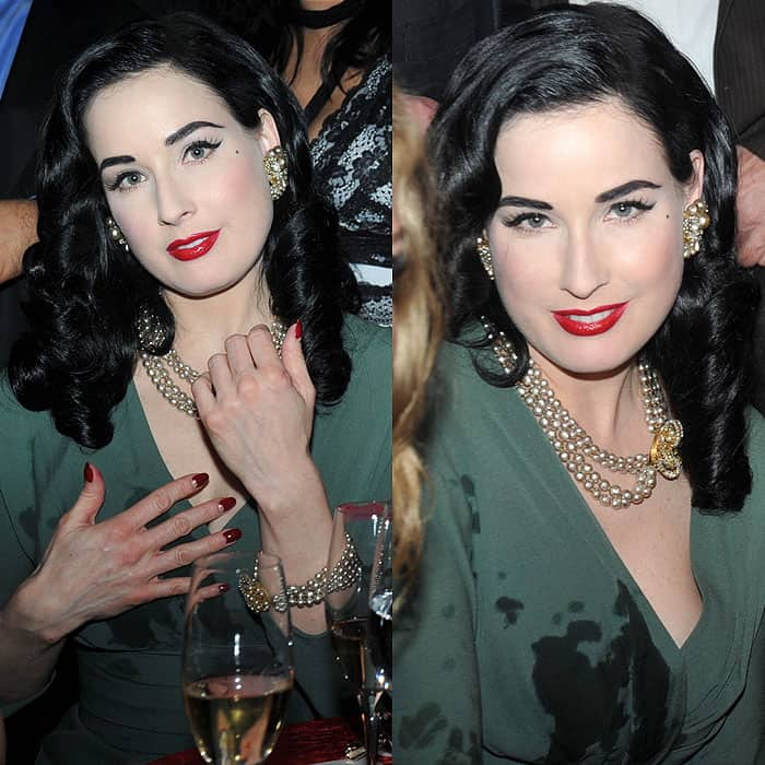 Dita Von Teese at the Lambertz Monday Night Schoko & Fashion party at the Alten Wartesaal in Cologne, Germany, on February 1, 2010