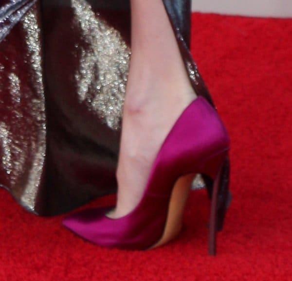 Emma Roberts wearing Casadei heels