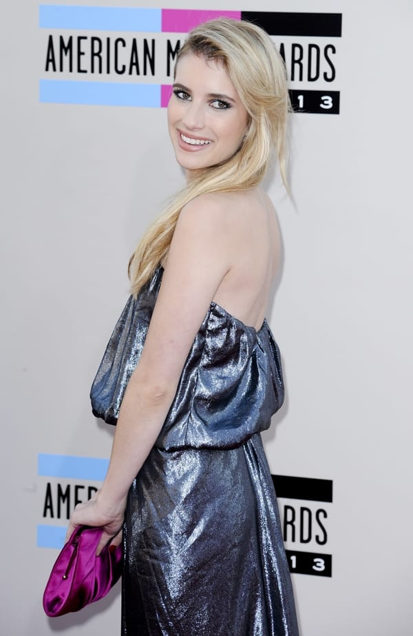 Emma Roberts at the 2013 American Music Awards held at Nokia Theatre in Los Angeles on November 24, 2013