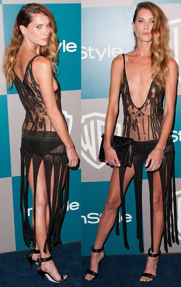 Model Erin Wasson arrives at the 13th Annual Warner Bros. And InStyle Golden Globe After Party