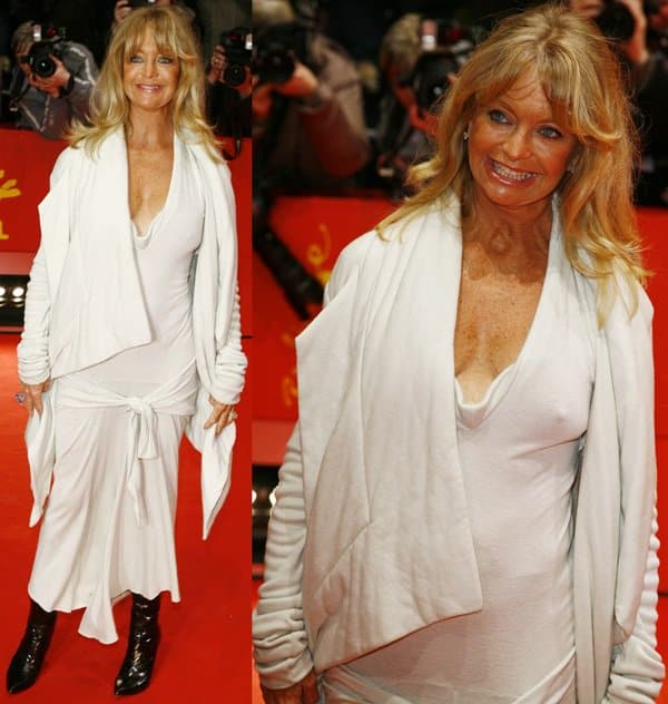 "Goldie Hawn attends the ""Elegy"" premiere during day four of the 58th Berlinale International Film Festival"