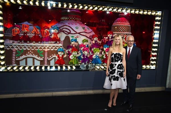 "Gwyneth Paltrow at the inauguration of ""Printemps"" Christmas decorations at Printemps Haussmann in Paris on November 7, 2013"