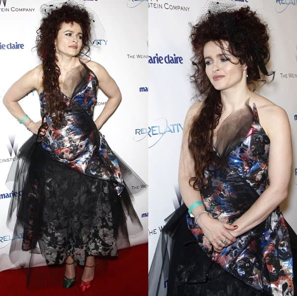 Helena Bonham Carter at Weinstein Company's Golden Globe Awards after-party in Los Angeles on January 16, 2011