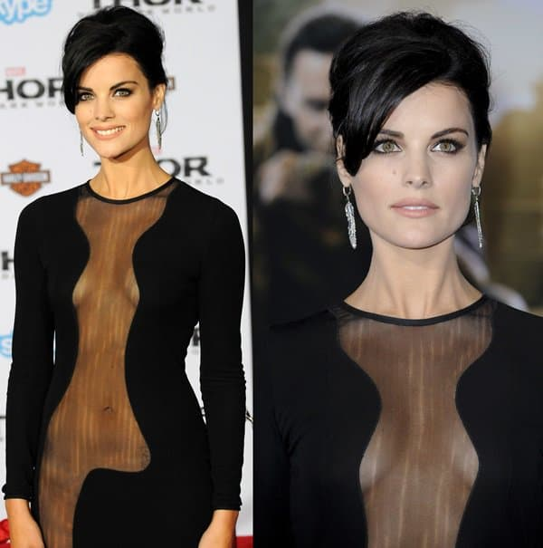 The sheer panels of Jaimie Alexander's dress revealed that she was not wearing any underwear