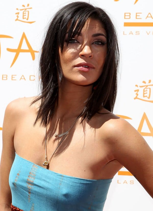 Jessica Szohr at the 2012 Tao Beach Season Opening at the Venetian Hotel and Casino