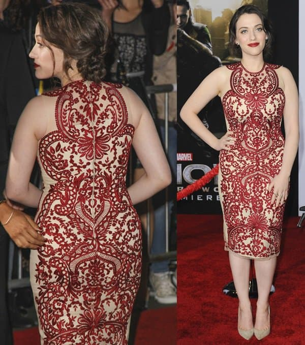 Kat Dennings at the world premiere of Thor: The Dark World at El Capitan Theatre in Los Angeles on November 5, 2013