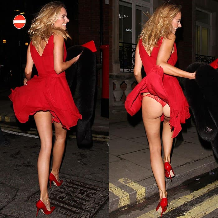 Kimberley got a little bit too flirty while posing for the cameras