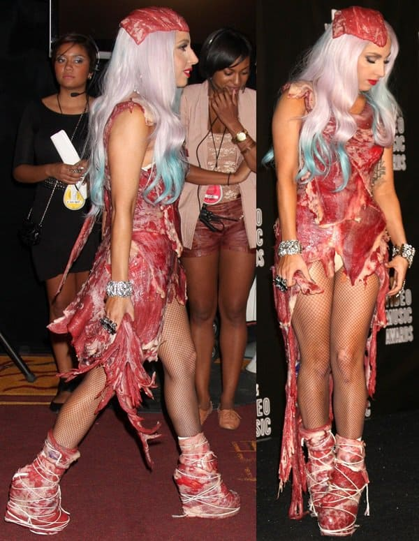 Lady Gaga at the 2010 MTV Video Music Awards (MTV VMAs) held at the Nokia Theatre in Los Angeles on September 12, 2010