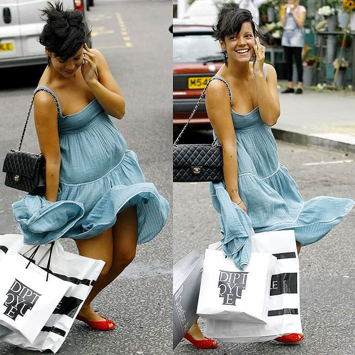 Lily Allen shopping on Portobello Road in London, England on August 16, 2008