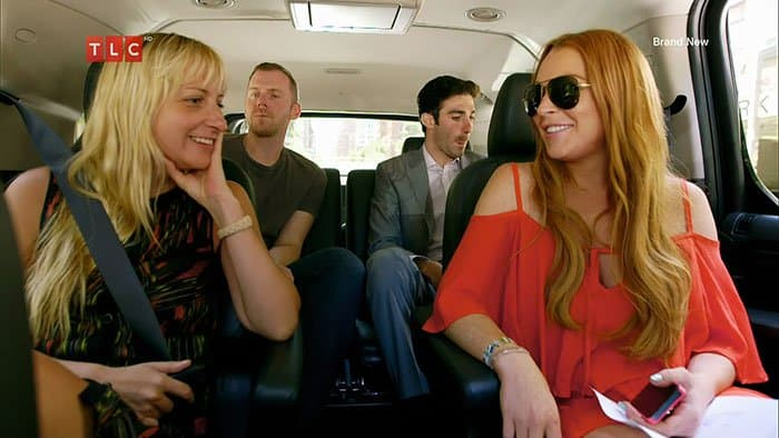 >Video stills from the eight-part documentary series on Lindsay Lohan