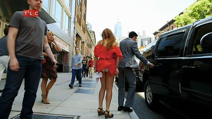 Not absolutely upskirt wind blowned mature