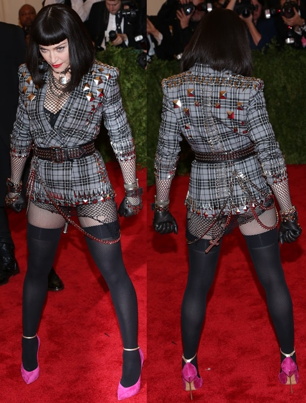 Madonna's outfit was inspired by punk fashion from the 1970s