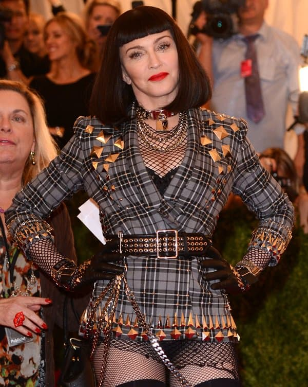 "Madonna at the ""Punk: Chaos to Couture"" Costume Institute Gala at The Metropolitan Museum of Art in New York City on May 7, 2013"