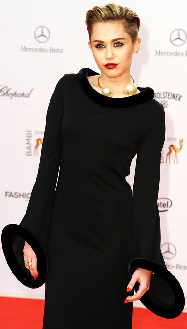 Miley Cyrus at the 2013 Bambi Awards at Musical Theater am Potsdamer Platz in Berlin on November 14, 2013