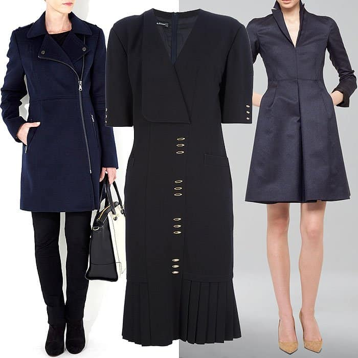Get the combined look of Kate Middleton's Max Mara jacket and Orla Kiely skirt in one with a spiffy coat dress