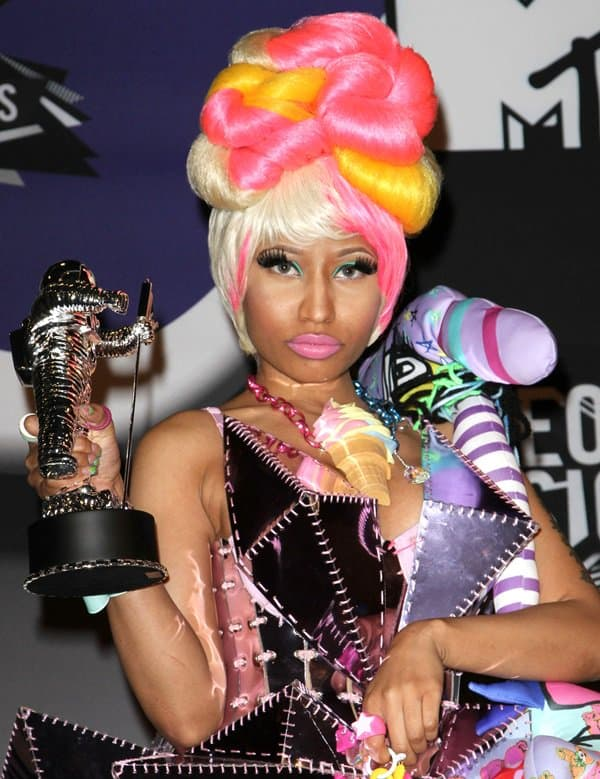 Nicki Minaj at the 2011 MTV Video Music Awards held at LA Live in Los Angeles on August 28, 2011