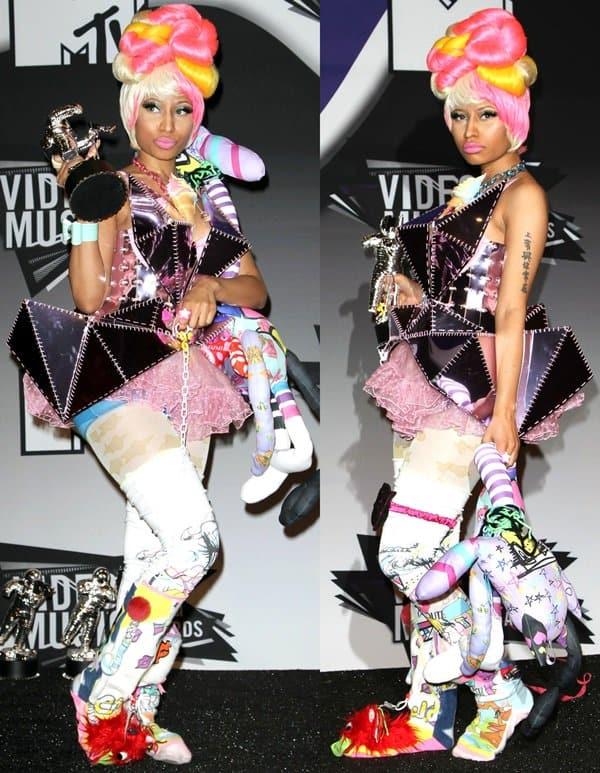 Nicki Minaj's bizarre outfit created by Dubai designer Furne One