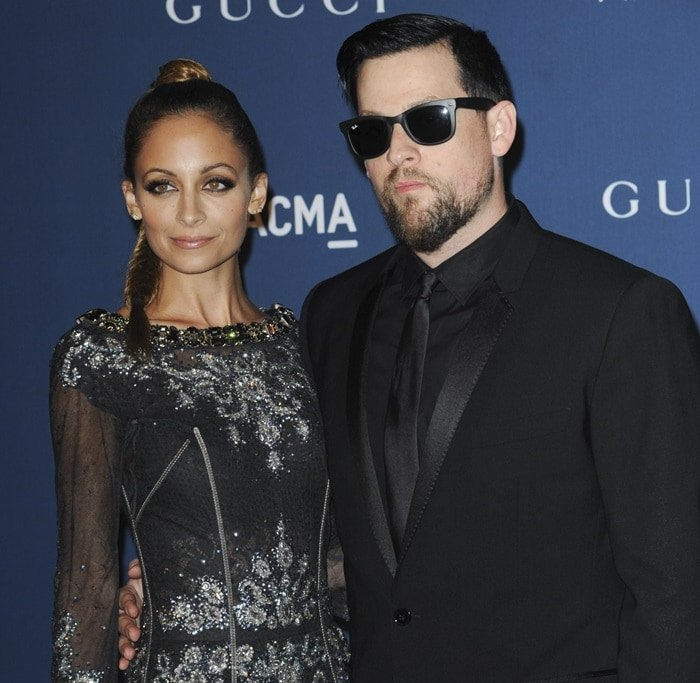 Nicole Richie and Joel Madden at the LACMA 2013 Art and Film Gala in Los Angeles on November 2, 2013