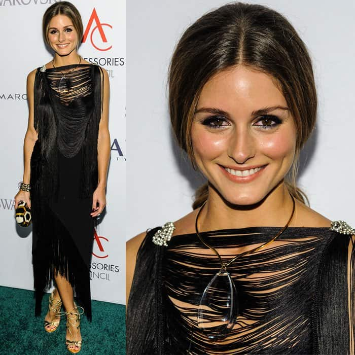 Olivia Palermo wore her Willow fringed top and skirt combo