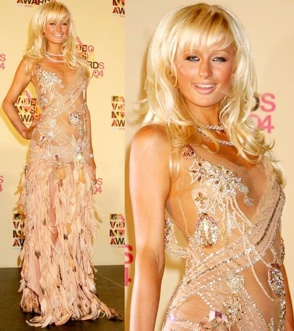 Paris Hilton in Roberto Cavalli Gown