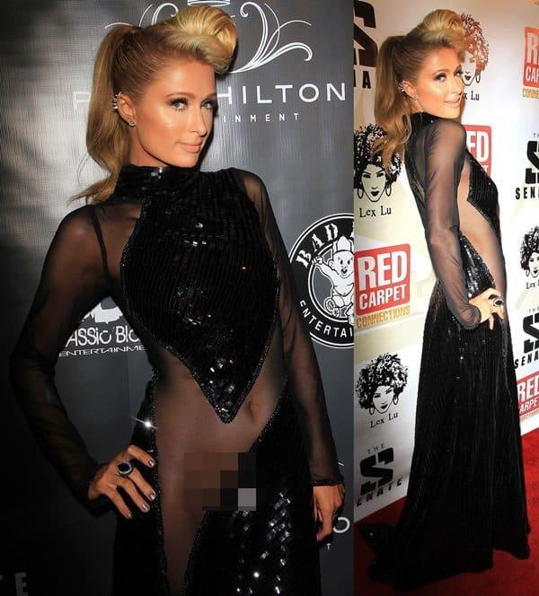 Paris-Hilton-Sheer-Dress