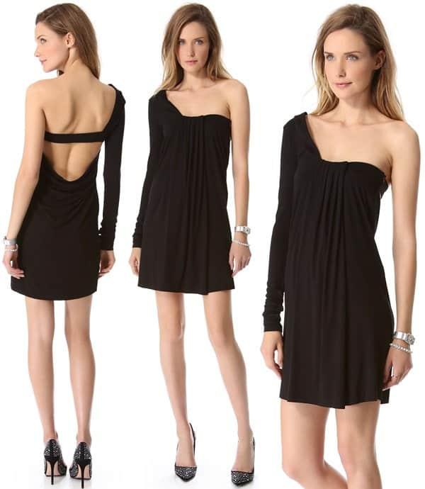 Pierre Balmain Asymmetrical Open Back Dress
