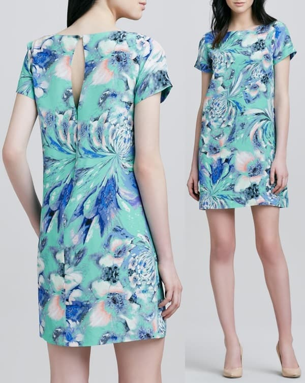 Shoshanna Selma Floral-Print Shift Dress