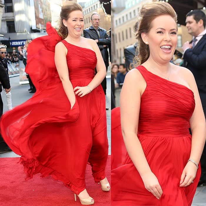 Tanya Burr at the 'Iron Man 3' UK premiere held at the Odeon Leicester Square in London, England on April 18, 2013