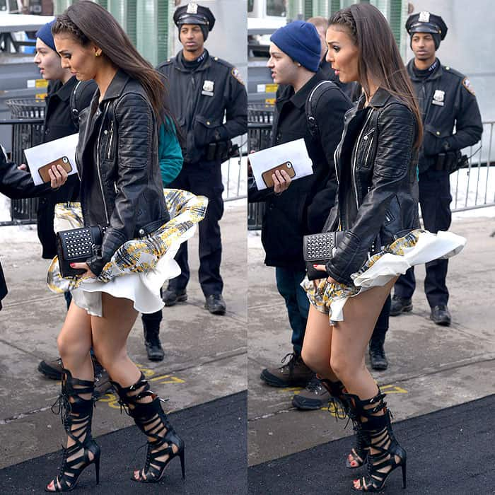 Victoria Justice skirt gets caught in wind