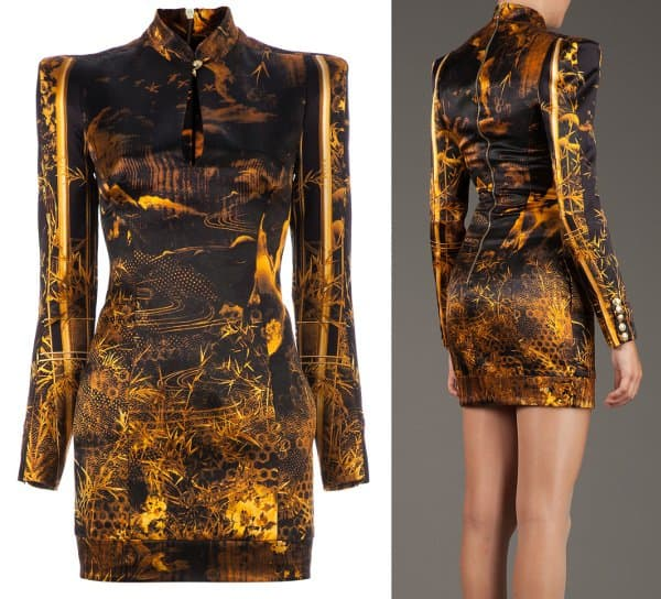 Balmain - Oriental Print Dress