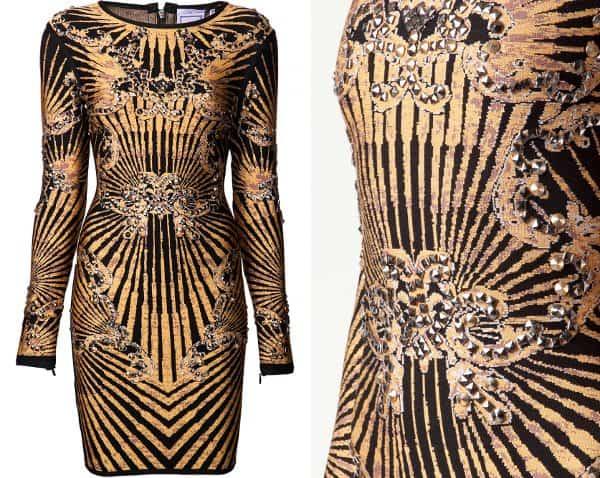 Hervé Léger Print Dress