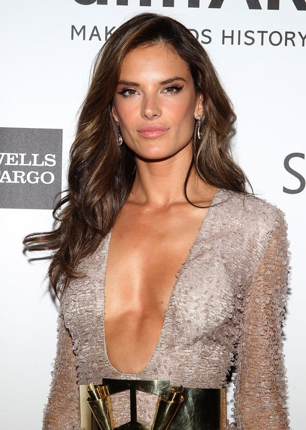 Alessandra Ambrosio flaunts just the right amount of cleavage