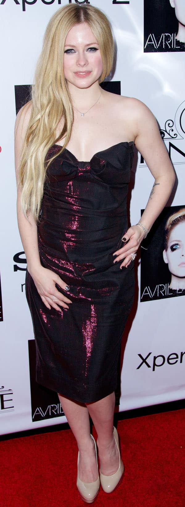 Avril Lavigne wearing a dress by Vivienne Westwood Red Label