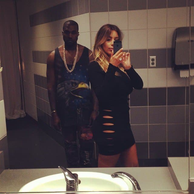 Bathroom selfie right before Yeezus hits the stage