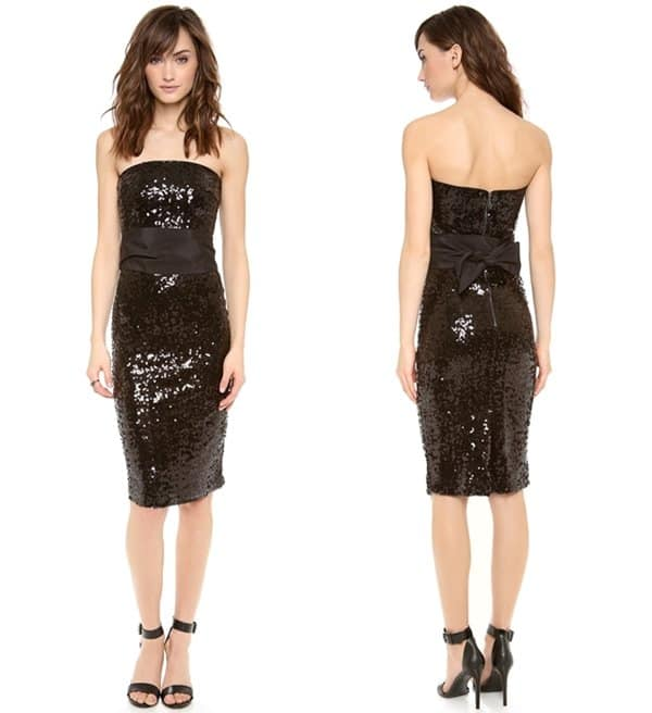 Blacque Label Strapless Sequin Dress