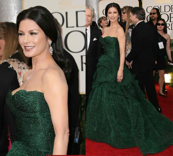 Catherine Zeta-Jones at the 68th Annual Golden Globe Awards held at The Beverly Hilton Hotel in California on January 16, 2011