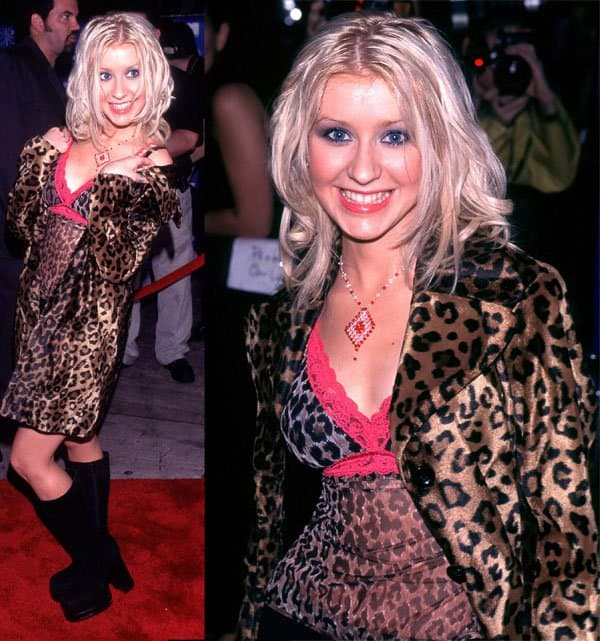 Christina Aguilera at the 1999 MTV Music Video Awards in New York on September 9, 2009