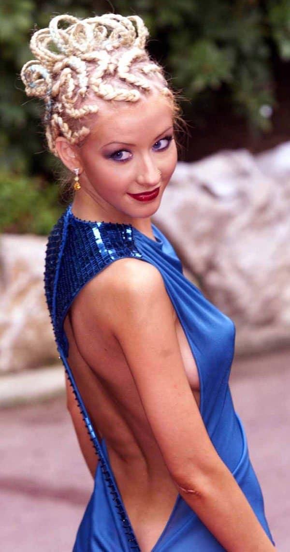 Christina Aguilera at the World Music Awards in Monte Carlo, Monaco, on February 5, 2001