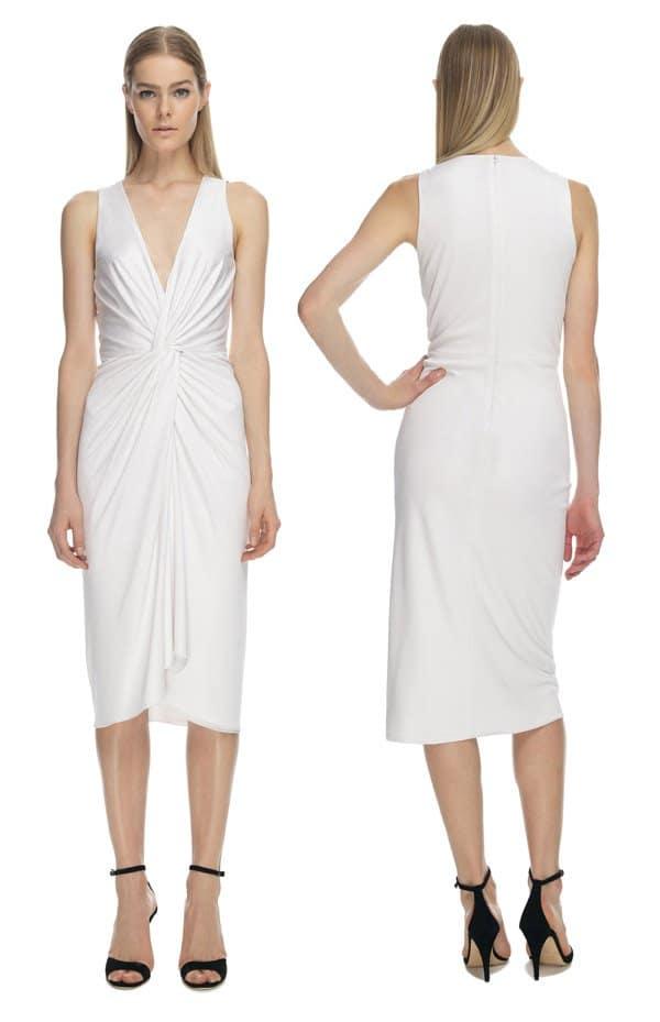 Cushnie et Ochs White Silk Jersey Dress