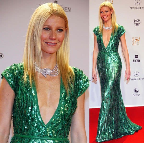 Gwyneth Paltrow donned a green gown at the Bambi 2011 Awards