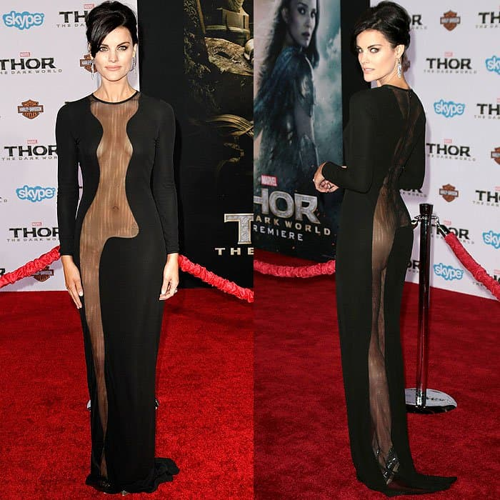 Jaimie Alexander rocked one of the sexiest dresses of all time at the premiere of Thor: The Dark World
