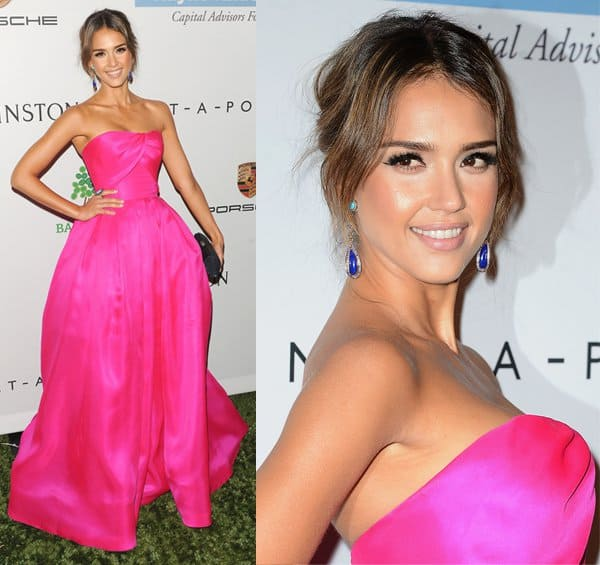 Jessica Alba at the 2nd Annual Baby2Baby Gala in Los Angeles on November 9, 2013