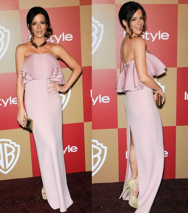 Kate Beckinsale at the InStyle and Warner Bros. Golden Globe After-Party at The Beverly Hilton Hotel in California on January 13, 2013