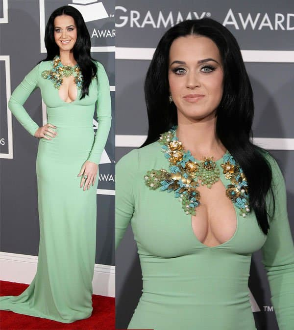 Katy Perry at the 55th Annual Grammy Awards held at the Staples Center in Los Angeles on February 10, 2013