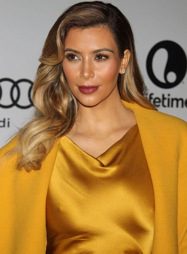 Our golden girl put on a mustard yellow silk dress that was a bit too blinding for breakfast